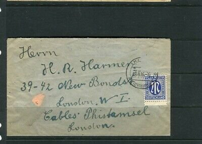 GERMANY; 1946 early Berlin Occupation Zone LETTER/COVER to London