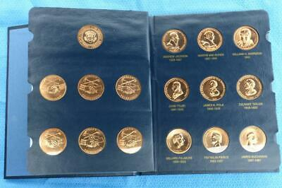 United States Mint Medals Of The Presidents 43 Bronze Coin Complete Book Set