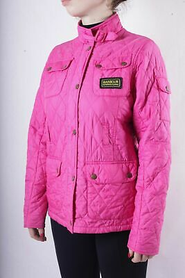 Barbour Kids Girls Pink Quilted Flyweight International Jacket Size XXL 14/15 y