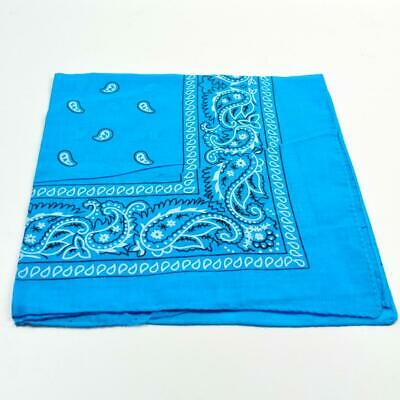 Pack Of 2 Cotton Paisley Design Bandana Headcover Neck Scarf White Unisex