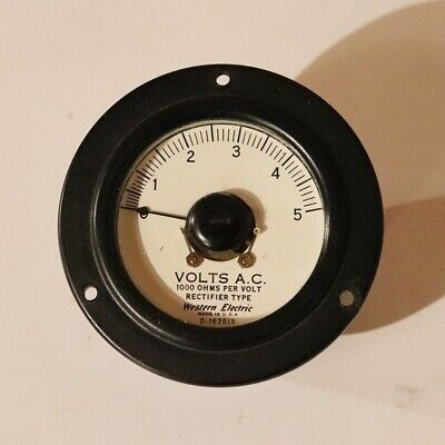 Western Electric AC Volts Meter 0-5 Rectifier Type