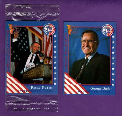 """xmas 1992 Perot /& Stockdale 2.25/""""// /""""Shooting Star/"""" Presidential Campaign Button"""