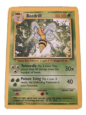 PL Pokemon BEEDRILL EX Card BLACK STAR PROMO Set XY157 Ultra Rare Box PLAYED