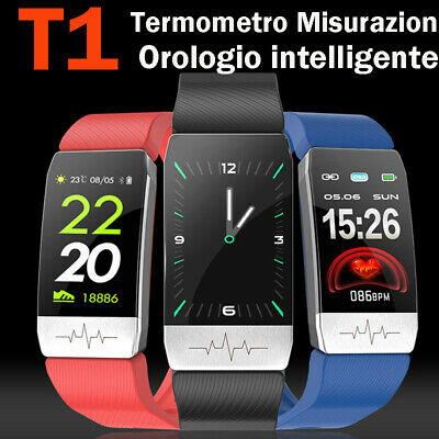 T1 Orologio Intelligente Termometro Misurazione Smart Band Fitness Tracker N9N8