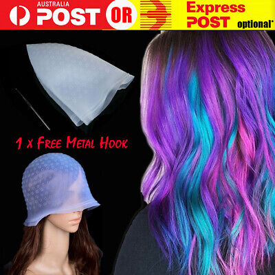 Reusable Hair Cap Salon Highlighting Tinting Hairdressing Streaking Silicone New