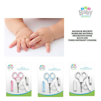 4Pc BABY MANICURE SET Nail Clippers Safety Scissors File 0+ Months  UK