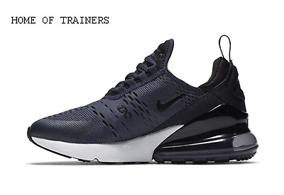Nike AIR MAX 270 (GS) NAVY BLACK 943345-400 Kids Boys Girls Trainers (PTI)