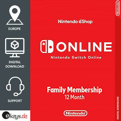 Nintendo Switch Online Family Membership 8 Users 1 Year | Code per Mail