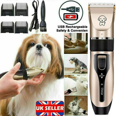 Professional Pet Dog Cat Hair Clippers  Trimmer Razor Grooming Set Kit UK
