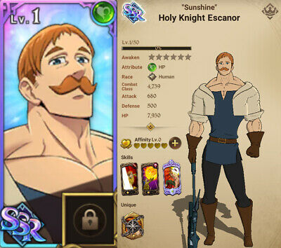 [GLOBAL] Seven Deadly Sins Grand Cross Account 7DS Green ESCANOR, STARTER