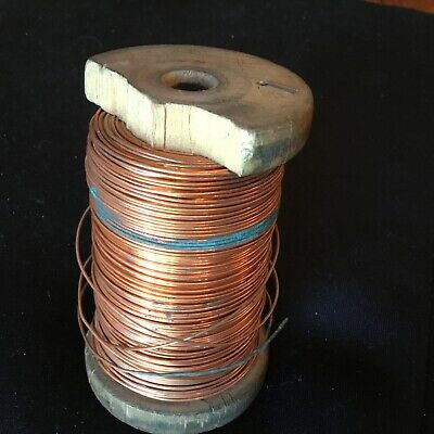 22swg Copper Wire - Weighs 430gm on the real - from workshop clearance