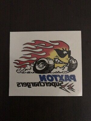 Paxton Supercharger Temporary Tattoo Decal Novi Racing Ford Chevy Mopar Vintage