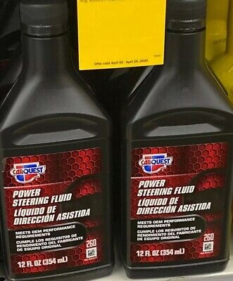 2 Count CARQUEST Chemicals Power Steering Fluid, 12 oz. Vermont Tool Co