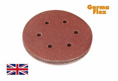150mm 6 inch Sanding Discs Germa Flex Sandpaper For Vel cro DA Pads Grits 40-600