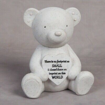 Thoughts Of You Graveside Teddy Bear & Heart Child / Baby Memorial