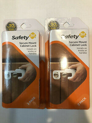 New! 4 pieces (2 packs of 2) of Safety 1st Secure Mount Cabinet Lock white.