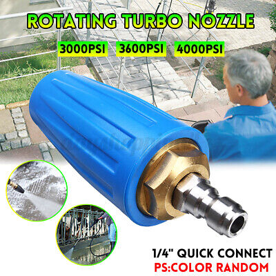 4000PSI Rotating Turbo Nozzle 1/4'' Quick Connect Pressure Wascher Cleaner Spray