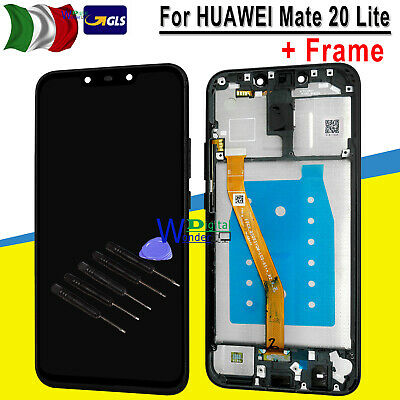 Display Lcd + Touch Screen Per Huawei Mate 20 Lite Sne-Lx1 Nero Con Frame