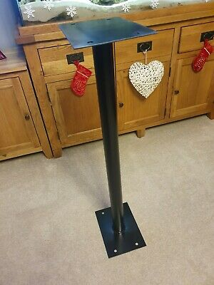 Metal round black Stand for Royal Mail Post Box Stand for GR ER Irish Scottish