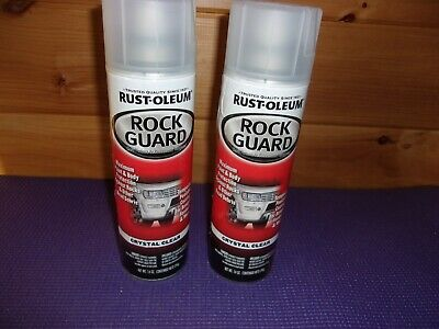 Rust-Oleum Rock Guard Spray Paint 14 Oz. Crystal Clear Removable Coating 2X Lot