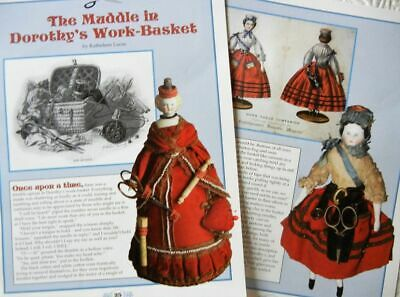 10p History Article + Color Pics -   Antique Sewing Companion Dolls