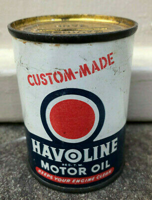 Vintage Havoline Motor Oil Can Coin Bank  Petroliana Texaco
