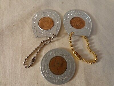 Lot of 3 Canadian Encased Cents/Pennies from the 1960's