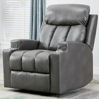 Fabric Recliner Chair Overstuffed Manual Reclining Couch Sofa Thickened Backrest
