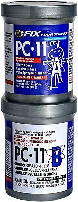 PC-Products PC-11 Epoxy Adhesive Paste, Two-Part Marine Grade, 1lb Cans, Off