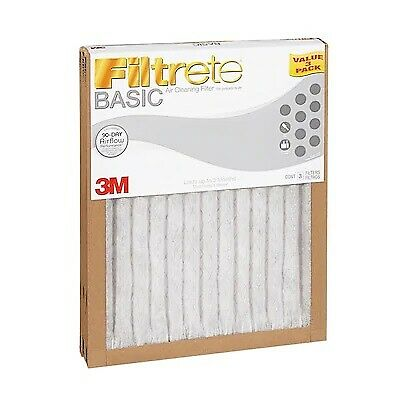 Filtrete 3-Pack Basic Pleated (20 x 20 x 1 in) Pleated Air Filter