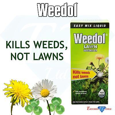 Weedol Lawn Weedkiller 1L Fast Acting for Plant, Grass, Garden, Patio