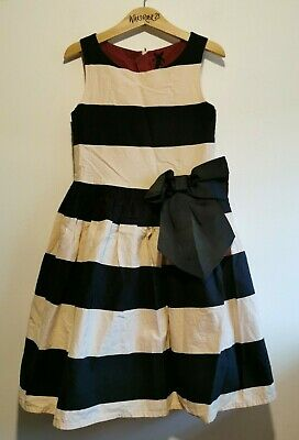 Great Condition Girls Age 8 Black And Pink Nude Striped Party Dress from Next