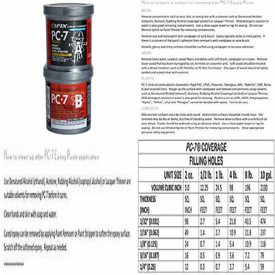 PC Products 167779 PC-7 Two-Part Heavy Duty Multipurpose Epoxy Adhesive 1 lb