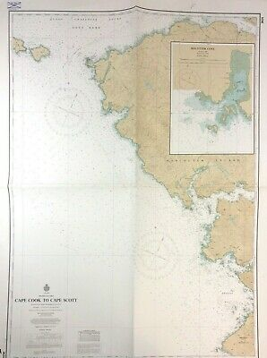 Vtg SEA OTTER COVE Nautical Chart VANCOUVER ISLAND Canada BRITISH COLUMBIA MAP