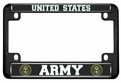 Motorcycle Metal License Plate Frame - United States ARMY