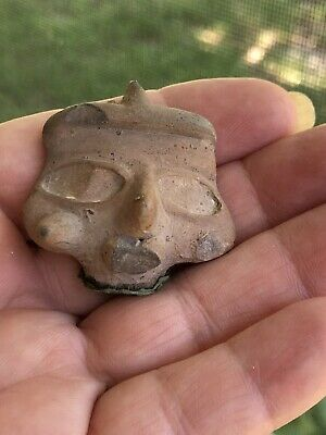 Ancient Pre-Colombian / Mayan/ Aztec/?? Head Fragment