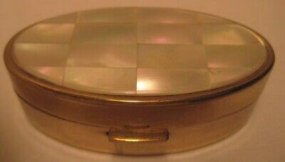 Old Max Factor Mother of Pearl Lipstick Case - Holder w/ Mirror