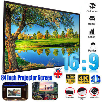 16:9 Projection Screen Projector Home Movie Matte 84Inch 3D Home Outdoor Theater