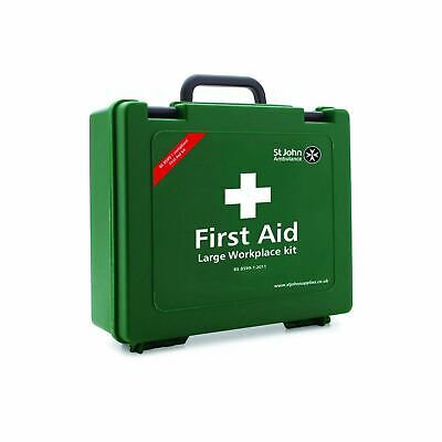 St John Ambulance Large Standard First Aid Kit Workplace Outdoor Carry Case Box