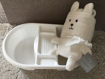 Baby Bundle Top And Tail Bath Blanket BNWT White Unisex