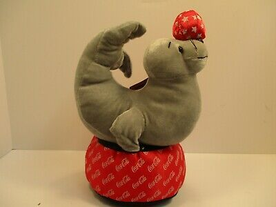 Coca Cola Coke Plush Seal Balancing Ball on its' Nose NWT