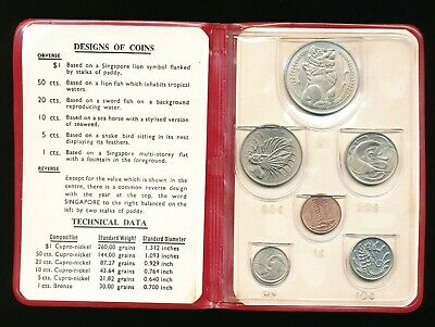 1967 Singapore New Coin Issue 6 Coins Set                                   m3