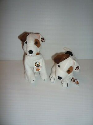 2 Dennys Promo Toy Wishbone Bean Bags Plush Dog PBS TV Show 1999