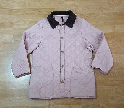 Barbour Quilted Liddesdale Jacket Coat Lightly Padded Ladies Girls Pink Size L