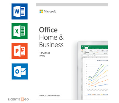 Microsoft Office Home and Business 2019 for PC/MAC
