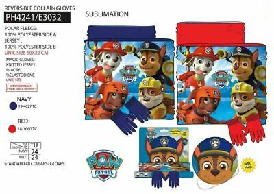 Paw Patrol 2 Piece Set - Collar And Gloves 3-8 Years