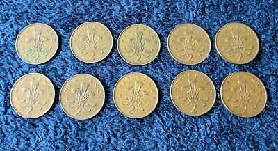 Job Lot 10 x New Pence 2 Penny Coin 1971 - 1980 Collectors British UK 2p Coins