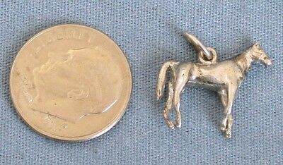 Vintage Sterling Horse Charm  5/8 Inch  1.8 grams