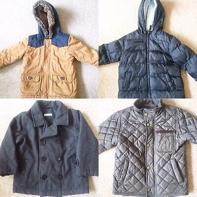 Boys Winter Coat Bundle Age 2-3 Years Marks and Spencer GAP Puffa Quilted Padded