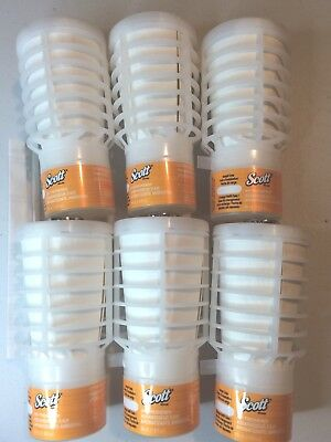 6-Rubbermaid/Scott TCell Citrus Scent Air Freshener Odor Refill **BRAND NEW**